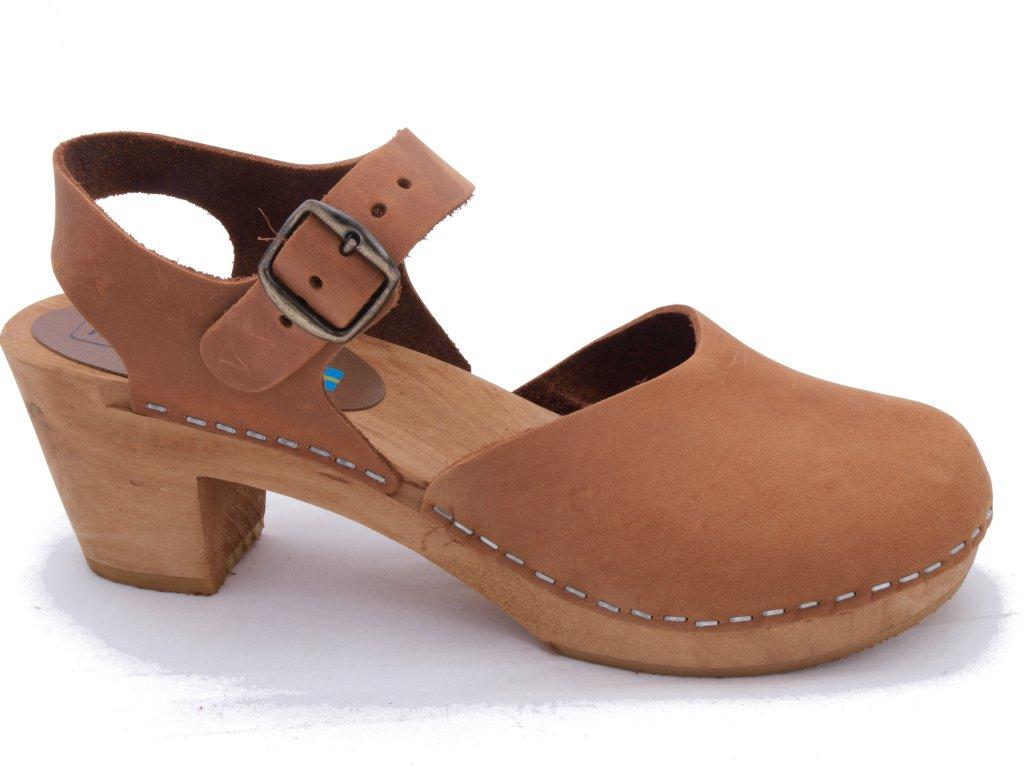 sandaler med täckt tå dam